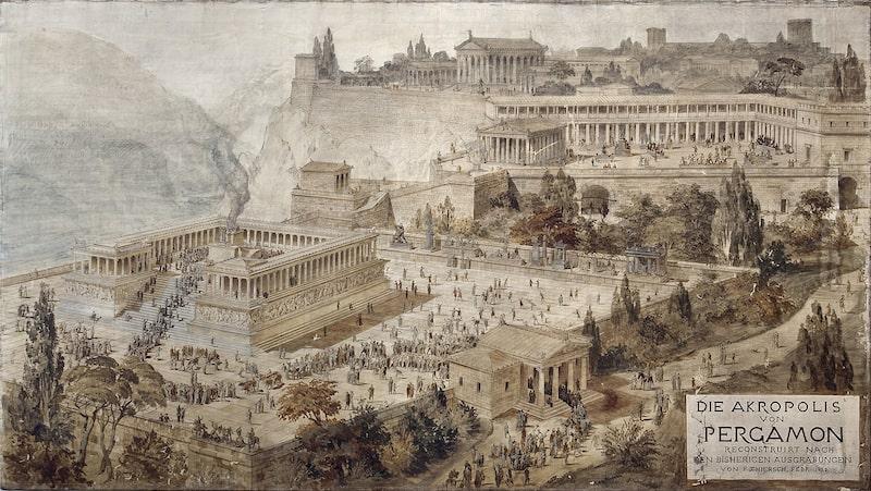 Pergamum – Altar of Zeus Pergamum was the center of pagan worship, the altar of Zeus was the symbol of false worshop in Pergamum.
