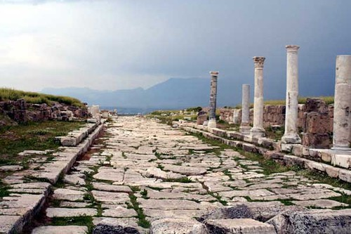 """Thyatira Lydia, converted to Christianity during Paul's first visit to Philippi in Macedonia, was a """"seller of purple, of the city of Thyatira."""