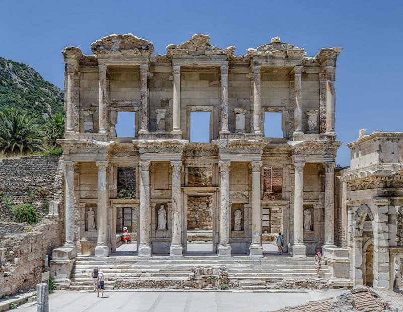 Ephesus, Celcus library Passing along this library day in and day out reminded the early Christians that Ephesus was the one of the world centers of knowledge, with one of the biggest libraries in the world.