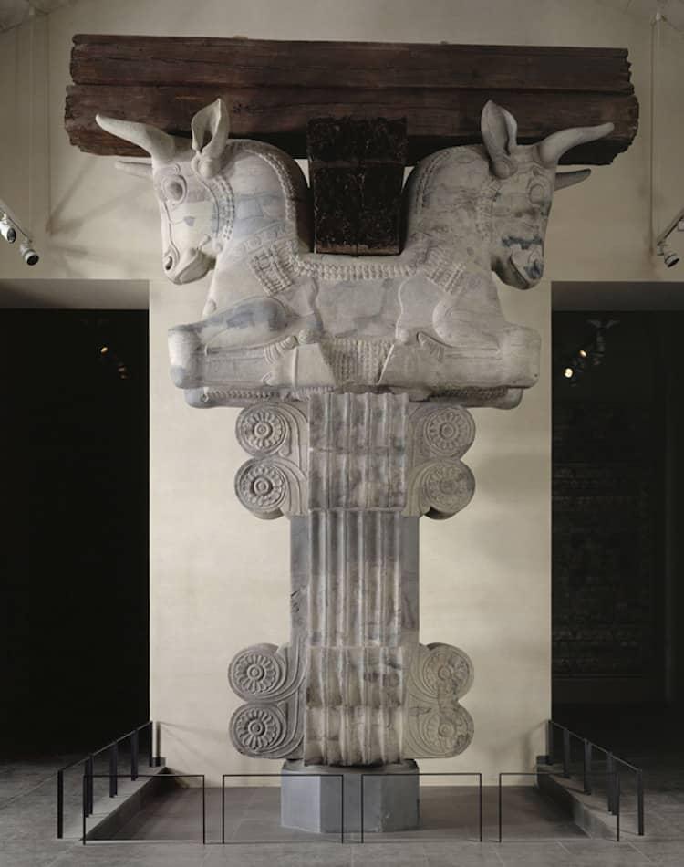 Huge column-capital - from the palace of Darius I, Xerxes (Ahasuerus) and Artaxerxes in Shushan.