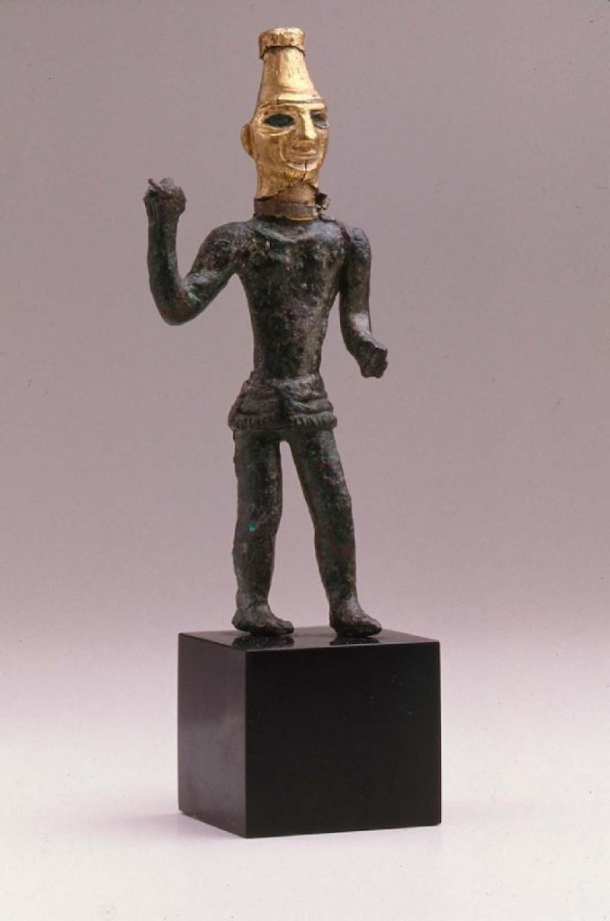 Statuette of a weather god - The Israelites left Egypt now free and saw Jehovah's intervention with the 10 plagued and the Red Sea. But, they fell prey in worship to false gods. The Canaanites worshipped false gods and the Israelites joined, even though they had seen direct Divine Intervention from Jehovah.