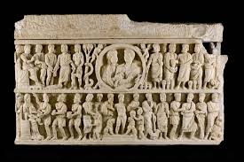 SARCOPHAGI - the evidences of the Christian communities dating from third do fifth century; the first depictions of the false teachings may be recognized.