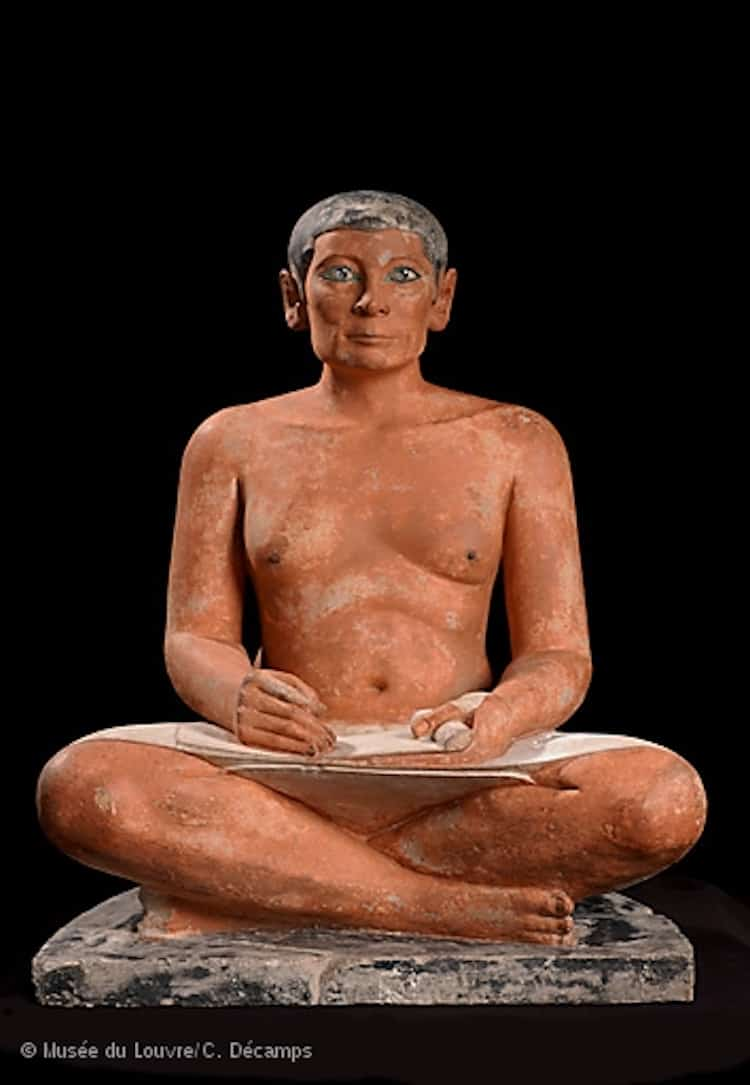 Seated Scribe statue - The history of Egypt was written by scribes