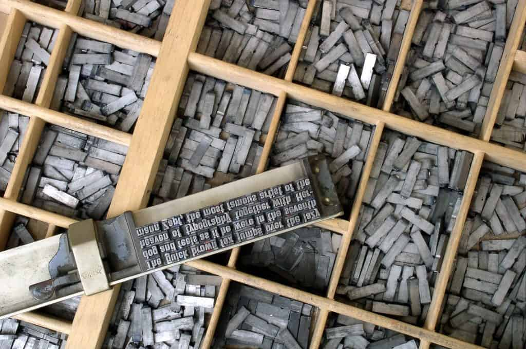 Typesetting - The museum is home to the greatest type collection ever brought together, allowing Plantijn the status of Royal Printer.