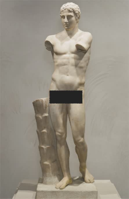 This is a sculpture of an athlete. What sport did he play? At that time, what did it mean to have a sculpture in your image? These questions and more will be answered on the tour.